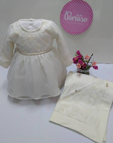 Saida Maternidade Paraiso Bebê Menina Vestido Batizado 7986