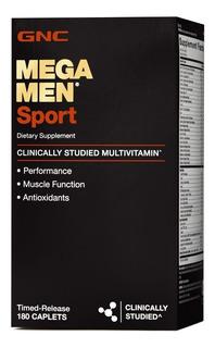 Gnc Mega Men Sport Multivitamínico Masculino 180 Capsulas
