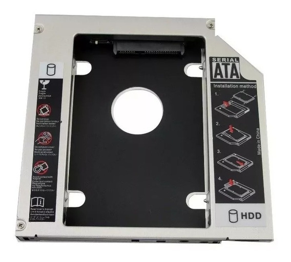 Adaptador Dvd Hd / Ssd Notebook Drive Caddy 9.5mm Sata