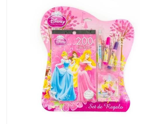 Princesas Set Regalo  Stickers Lapicero Niñas Útiles Escolar