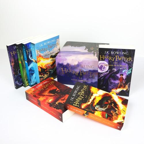 Imagen 1 de 3 de Saga Harry Potter Libros 1-7 En Caja