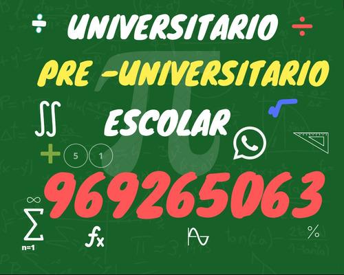 Profesor De Matemática, Estadística, Cálculo.