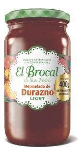 Mermelada El Brocal Light Durazno 400g. - Libre De Gluten