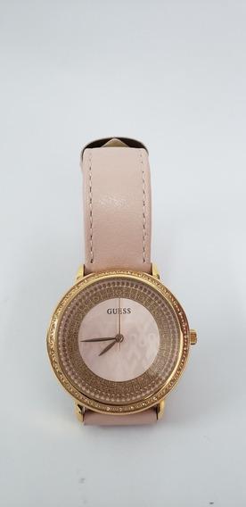 Relógio Guess Feminino Rosa Couro 92668lpgdrc1