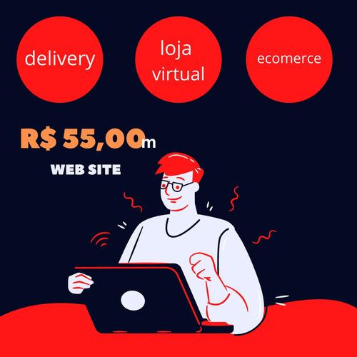 Imagem 1 de 8 de Site Delivery Ecommerce E Loja Virtual