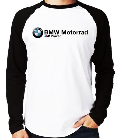 Camiseta Raglan Bmw Motorrad M Power Longa