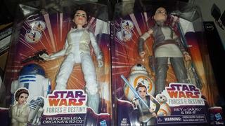 Star Wars Princesa Leia R2d2. Rey Bb-8 En Pack