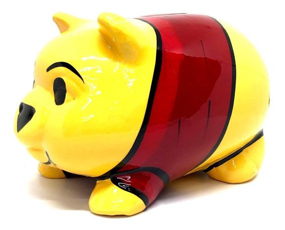 Alcancía Winnie Pooh Cerdito Puerquito Barro Ceramica