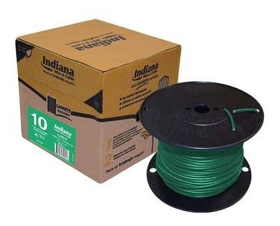 Cable Eléctrico Thw #10 Caja Con 100 Mtrs Indiana