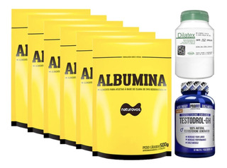 6x Albumina 500g + Dilatex 152 Cáp + Testodrol 60 Tab Profit