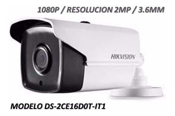 Camara Hikvision Bullet Hd 1080p 3.6mm Ds-2ce16cot-it1
