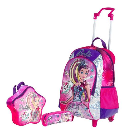 Kit Mochilete Barbie Aventura + Lancheira + Estojo Sestini