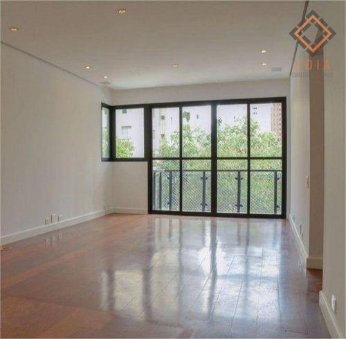 Imagem 1 de 19 de Apartamento Para Compra Com 3 Quartos E 2 Vagas Localizado Em Moema Pássaros - Ap55115