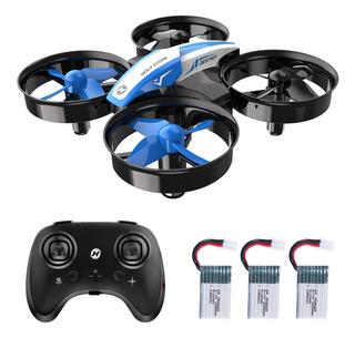 Mini Dron Cuadricóptero A Control Remoto Hs210 C/ 3 Baterías