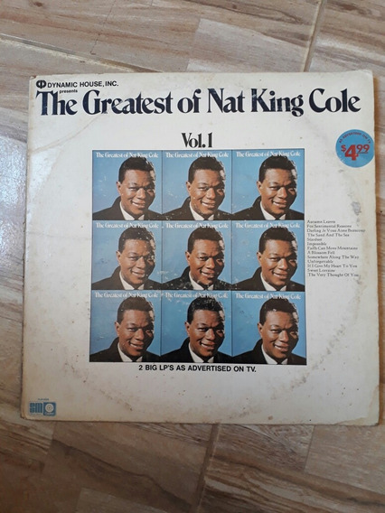 Lp King Cole The Greatest Of Nat King Cole Vol.1 E 2
