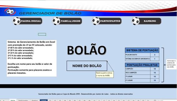 Gerenciador De Bolão Para Copa Do Mundo 2018