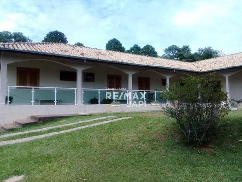 Chácara Com 4 Dormitórios À Venda, 5124 M² Por R$ 2.200.000,00 - Vale Dos Cebrantes - Jundiaí/sp - Ch0122