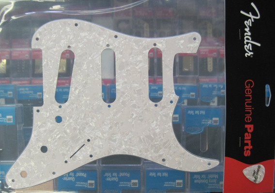 Escudo Guitarra Fender Original White Pearl