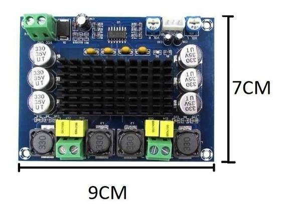 3pçs Dc 12 V 24 V Amplificador Tpa3116 240 Rms