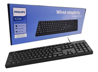 Teclado Philips K234 Negro Alambrico / Lhua Store