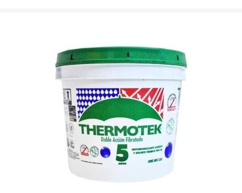 Imagen 1 de 3 de Impermeabilizante Thermotek Galon Blanco Fibrat 5 Años