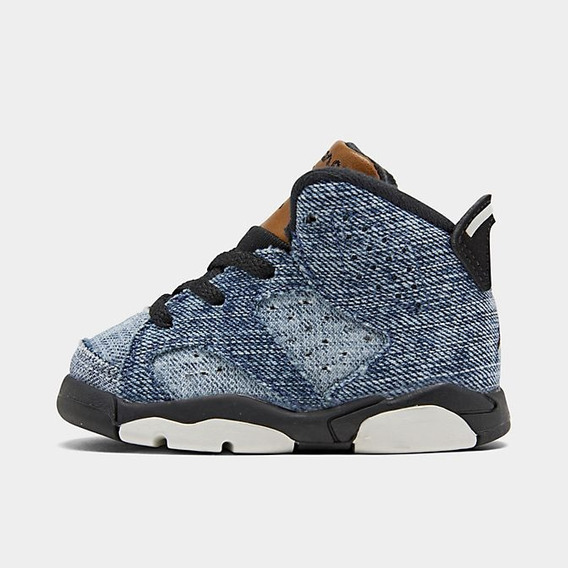 Tenis Air Jordan Retro 6 Washed Denim Para Niño