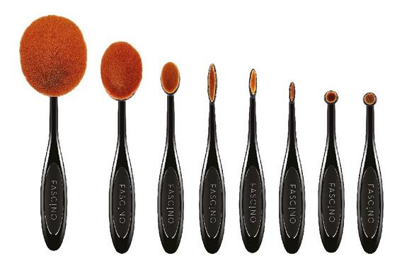 Set 8 Brochas Y Pinceles De Maquillaje Contouring Fascino