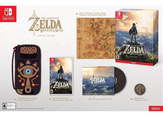 Zelda Breath Of The Wild Special Edition Nintendo Switch