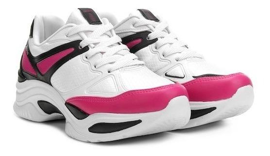 Tênis Azaleia Chunky Sneaker Feminino,preto Pink 885/523