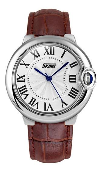 Relógio Feminino Skmei Analógico 9088 Marrom