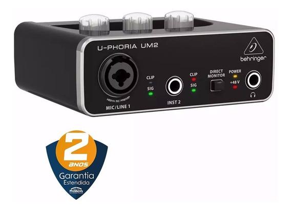 Interface De Áudio Usb U-phoria Um2 Behringer Profissional