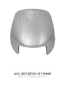 Bico Frontal Biz100+ 2005 Prata S/adesivo + Brinde