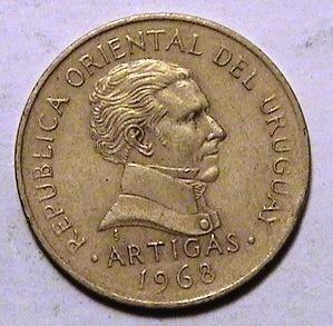 Moneda 1 Peso Uruguayo Año 1968