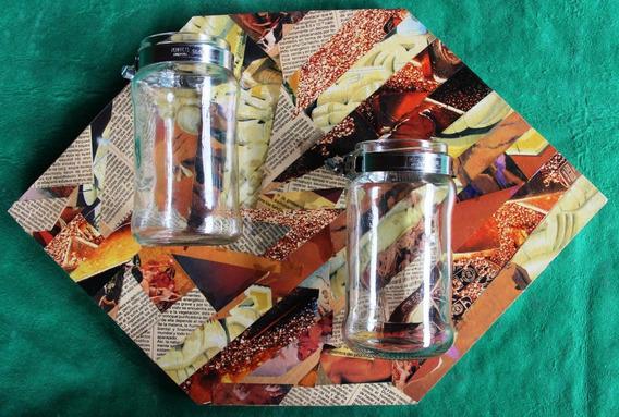 Organizador Frascos Vidrio Y Madera - Diseños Originales
