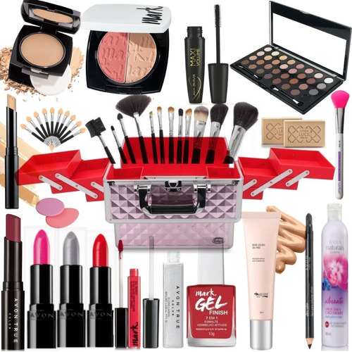 Maleta De Maquiagem Profissional Completa Avon Batom Luxo