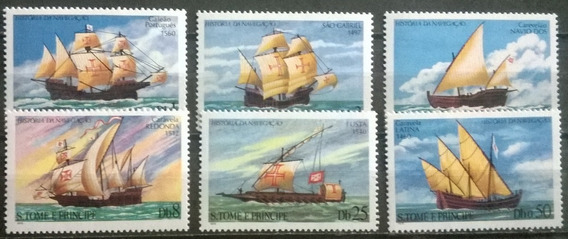 C@- Barcos - Santo Tomé Y Principe - Serie Completa Mint -
