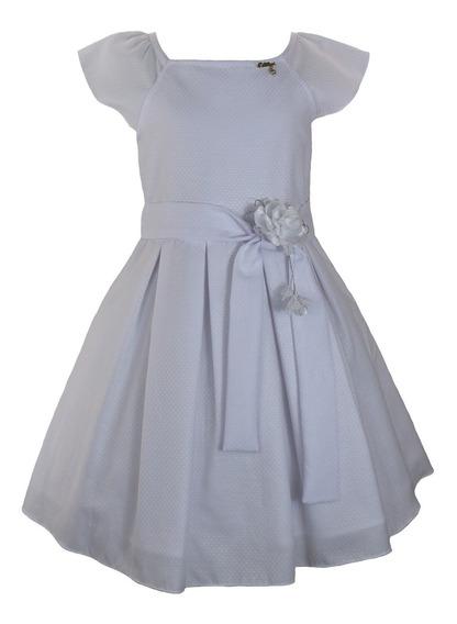 Vestido Infantil Tam:1 Ao 4 Branco Katitus 1476