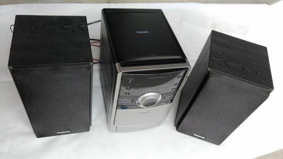 Micro System Philips Mcm166 Som Usb Aux Rádio Fm/am