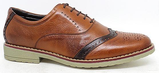 Sapato Social Casual Couro Legítimo Bico Redondo Macio Leve