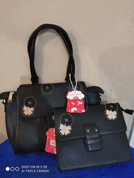 Bolsa Feminina Kit De Luxo Elegante Linda Couro Pu Pedraria