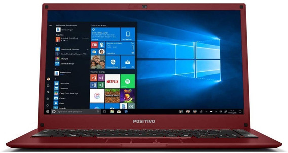 Notebook Positivo Motion Red Q232b, Intel Atom, 32+64gb Hd,