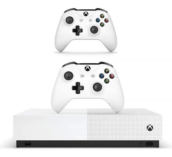 Kit Xbox One S + 2 Controles E All Digital Branco