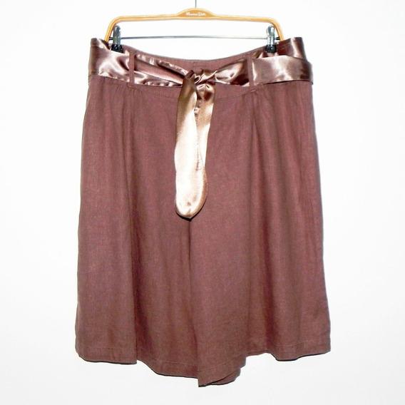 Pollera Pantalón De Lino Con Lazo De Razo ( M B Estado) #roa