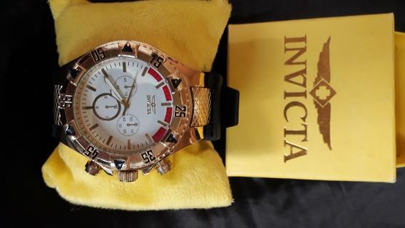 Relógio Invicta Subaqua Dourado Com Preto R$ 230,00