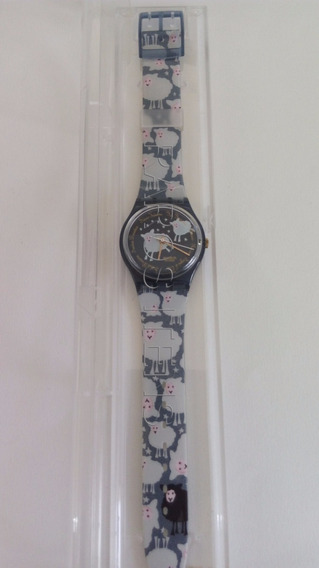 Relógio Pulso Swatch Black Sheep 1994 Sem Uso Unisex Raro