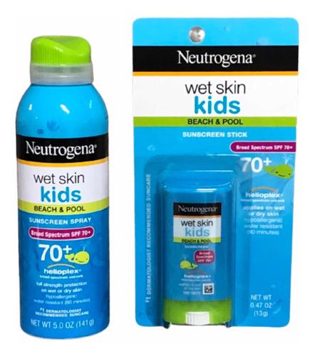 Imagem 1 de 4 de Kit Neutrogena Wet Skin Kids Fps 70+