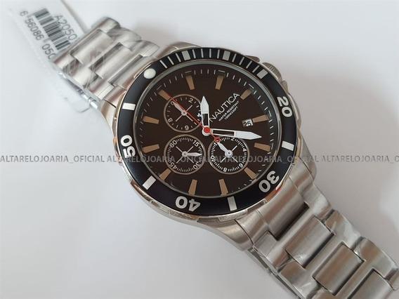 Relógio Nautica Cronografo A20507g Na Altarelojoaria