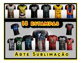 Artes Para Camisetas 15 Estampas Sublimação De Super Herois