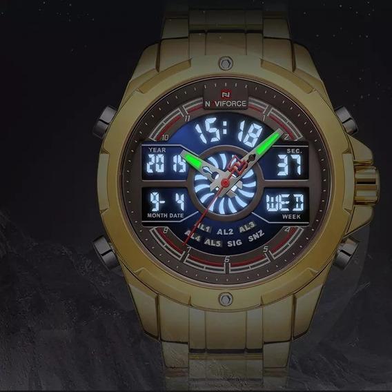 Relógio Masculino Naviforce Luxo De Pulso