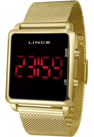 Relógio Lince Feminino Digital Dourado Mdg4596l Pxkx